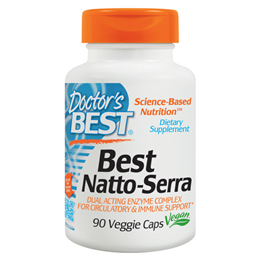 Doctors Best Natto-Serra - Nattokinase + Serrapeptase - 90 Vegicaps