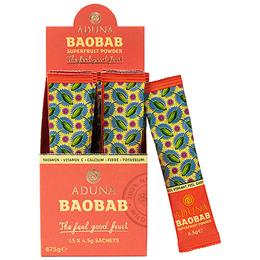 Aduna Baobab Fruit Pulp - Energy Support - 15 x 4.5g Sachets  - Best before date is 28th February 2017