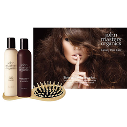 John Masters Organics Luxury Hair Set - Shampoo, Conditioner & Brush