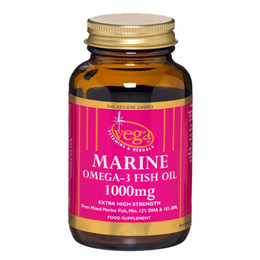 Vega Nutritionals Marine Omega-3 Fish Oil 1000mg - 60 Capsules - Best before date is 31st August 2018