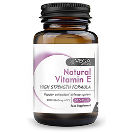 Vega Nutritionals Natural Vitamin E 400iu - 30 Capsules