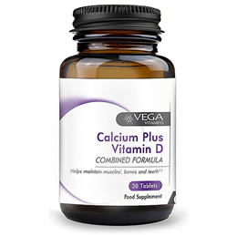 Vega Nutritionals Calcium + Vitamin D High Strength - 60 Tablets