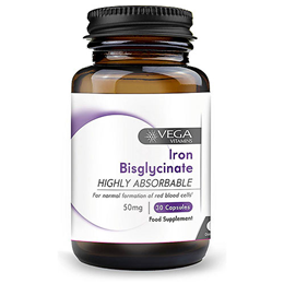 Vega Nutritionals Iron Bisglycinate 50mg - 60 Vegicaps