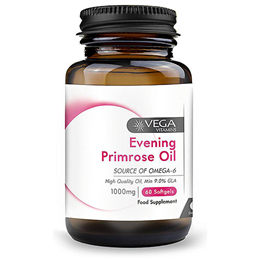 Vega Vitamins Evening Primrose Oil - 60 x 1000mg Softgels