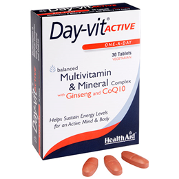 HealthAid Day-Vit Active - Multivitamin & Mineral Complex - 30 Tablets