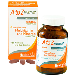 HealthAid A to Z Multivit - Multivitamins and Minerals - 90 Tablets