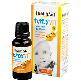 HealthAid BabyVit - Multivitamin Liquid Drops - 25ml Drops