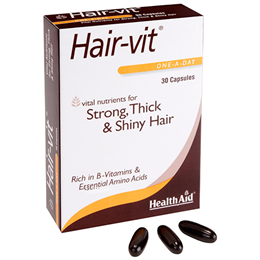 HealthAid Hair-Vit - Strong, Thick & Shiny Hair - 30 Capsules