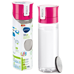 BRITA Fill & Go Vital - Water Bottle + 1 Micro Disc - Pink