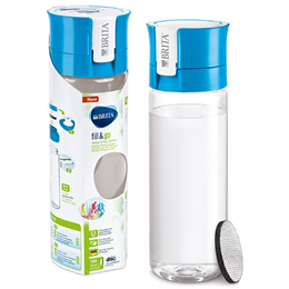 BRITA Fill & Go Vital - Water Bottle + 1 Micro Disc - Blue