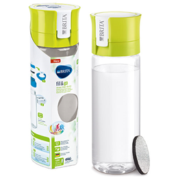 BRITA Fill & Go Vital - Water Bottle + 1 Micro Disc - Lime