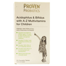 ProVen Probiotics A-Z Multivitamins for Children - 30 Chewable Tablets