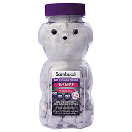 Sambucol Chewable Teddies For Kids - Black Elderberry - 60 Chewables