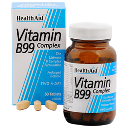 HealthAid Vitamin B99 Complex - Two A Day - 60 Vegan Tablets