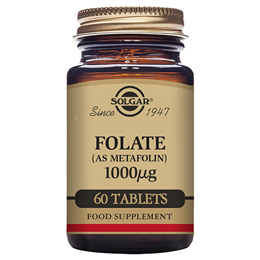 Solgar Folate 1000mcg - As Metafolin - 60 Vegan Tablets