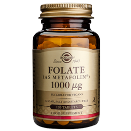Solgar Folate 1000mcg - As Metafolin - 120 Vegan Tablets