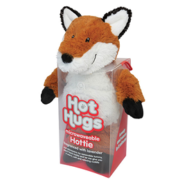 Aroma Home Hot Hugs - Microwaveable Hottie - Brown and White Fox