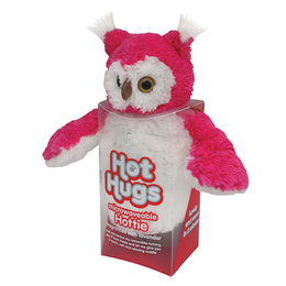 Aroma Home Hot Hugs - Microwaveable Hottie - Pink and White Owl