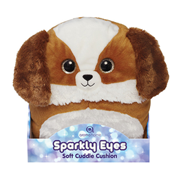 Aroma Home Sparkly Eyes Soft Cuddle Cushion - Dog