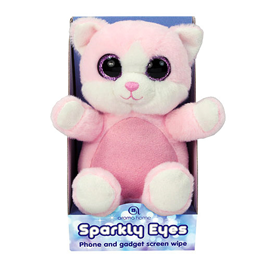 Aroma Home Sparkly Eyes Phone and Gadget Screen Wipe - Cat