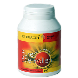 Bee Health Pure Bee Pollen - Immune System - 100 x 500mg Capsules