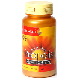Bee Health Propolis Vitamin C and Zinc - 60 Tablets