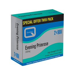 Quest Evening Primrose 1000mg - Twin Pack - 2 x 90 Capsules