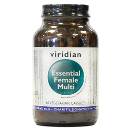 Viridian Essential Female Multi - Hibiscus and Cranberry - 60 Vegicaps