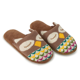 Aroma Home Fun for Feet - Knitted Slippers - Owl
