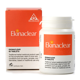 Bio Health Ekinaclear - For Minor Skin Conditions - 60 Tablets - Best before date is 31st July 2017