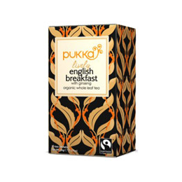 Pukka Teas Lively English Breakfast - 20 Teabags x 4 Pack