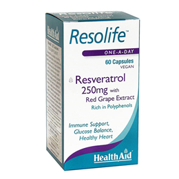 HealthAid Resolife - Resveratrol - Grape Extract - 60 x 250mg Vegicaps