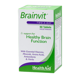 HealthAid Brainvit - Healthy Brain Function - Two a Day - 60 Tablets