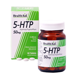 HealthAid 5-HTP HydroxyTryptoPhan - 60 x 50mg Vegetarian Tablets