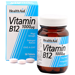 HealthAid Vitamin B12 - Mega Strength - 50 Vegan Tablets