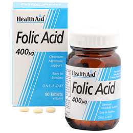 HealthAid Folic Acid - One A Day - 90 Vegan Tablets