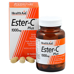 HealthAid Ester C  Plus - Non Acidic - 30 x 1000mg Vegan Tablets