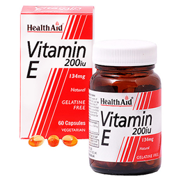 HealthAid Vitamin E 200iu - Natural -  60 x 134mg Vegicaps