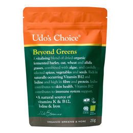 Udos Choice Beyond Greens - 100% Organic - 255g Powder