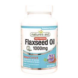 Natures Aid Cold Pressed Flaxseed Oil - 90 x 1000mg Capsules