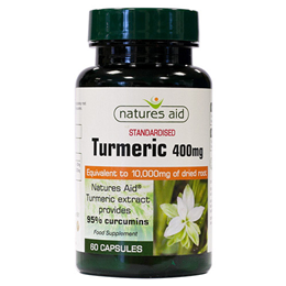 Natures Aid Standarised Turmeric - 60 x 10,000mg Vegicaps