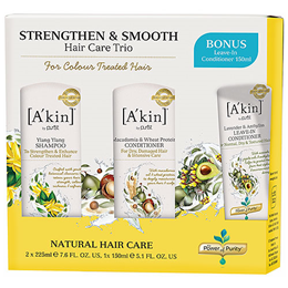 A kin Hair Care Trio - Strengthen & Smooth - Colour Treated Hair