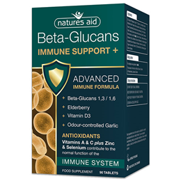 Natures Aid Beta-Glucans Immune Support + Antioxidants - 90 Tablets