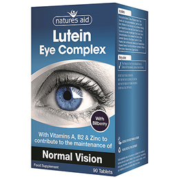 Natures Aid Lutein Eye Complex with Bilberry & ALA - 90 Tablets
