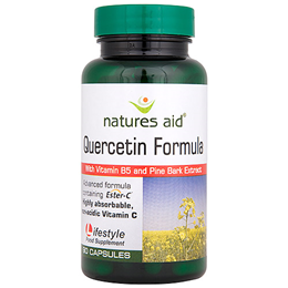 Natures Aid Quercetin Formula with Vitamin B5 - 90 Vegicaps