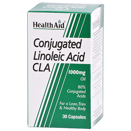HealthAid Conjugated Linoleic Acid - CLA - 30 x 1000mg Oil Capsules - Best before date is 31st July 2019