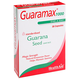 HealthAid Guaramax 1000 - Guarana Seed Extract - 30 Capsules