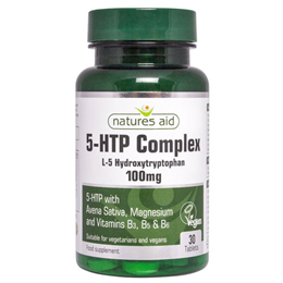 Natures Aid 5-HTP Complex - L-5-Hydroxytryptophan - 30 x 100mg Tablets