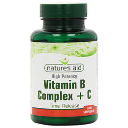 Natures Aid High Potency Vitamin B Complex + Vitamin C - 30 Tablets