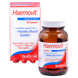 HealthAid Haemovit - Healthy Blood System Support - 30 Capsules